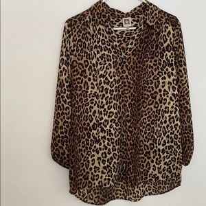 Ann Klein Animal print blouse